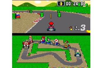 Super Mario Kart Gameplay Screenshot