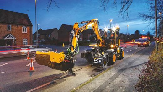The digger that repairs potholes in minutes