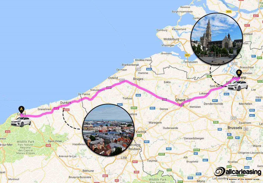 Calais to Antwerp