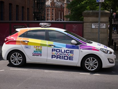Police With Pride Car