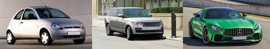 From Ford KA to Range Rover