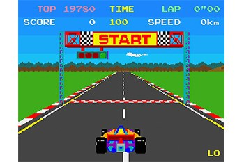 Pole Position Gameplay Screenshot