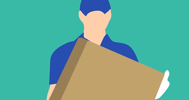 Courier - postman, delivery driver, takeaway