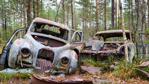 Spooky Car Graveyards in the UK