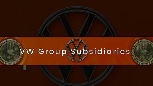 Which manufacturers do the Volkswagen Group own?