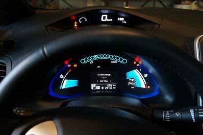 Electric Car, Nissan Leaf Dashboard