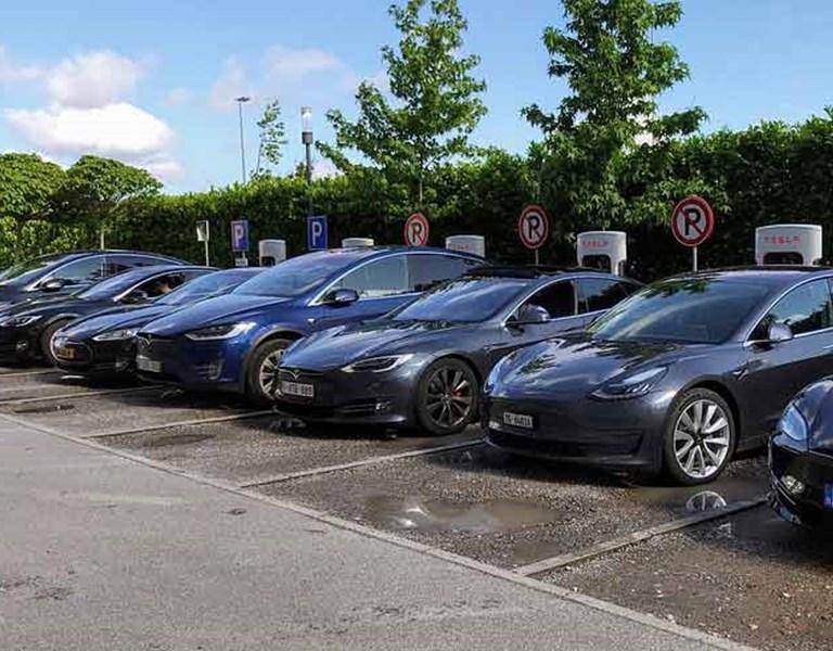 Electric company cars (Tesla)