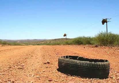 sit on a flat tyre