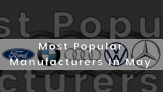 Most Popular Manufacturers Of May (SMMT